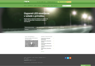 An example of freyaled.com design in 2012-2013