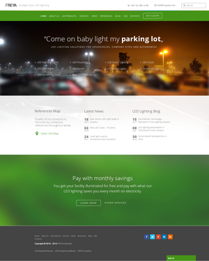 An example of freyaled.com design in 2015