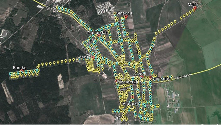 Gbely Village town plan, Slovakia