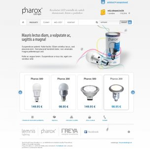 An example of eshop.pharox.sk design in 2011-2013